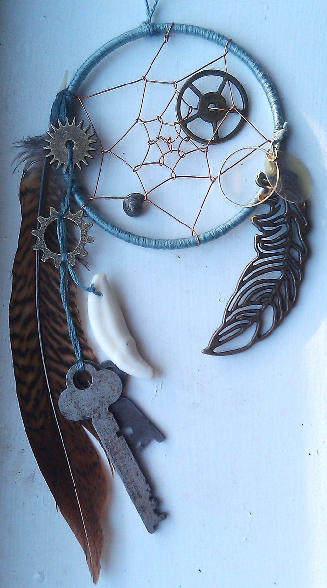 606 Best Dreamcatchers Images On Pinterest Wind Chimes Child Room Recycled Circuit Board Clock Black Stones By Debbyaremdesigns Steampunk Dreamcatcher