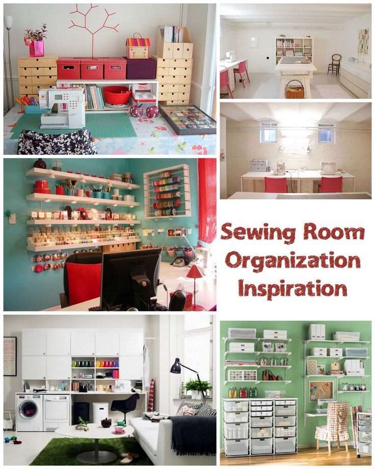 Need some inspiration for sewing room organization? Let these photos help you in your creative space!