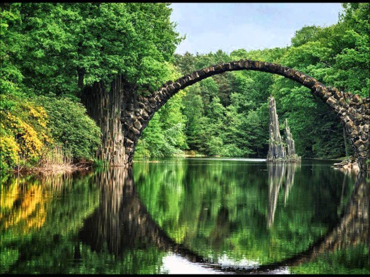 Ancient Bridge, Kolpino City, Russia
