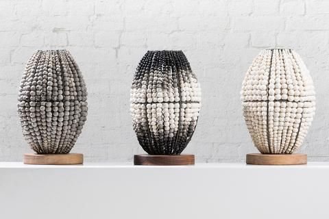Barrel Table Lamps - Grey, Ombré, White