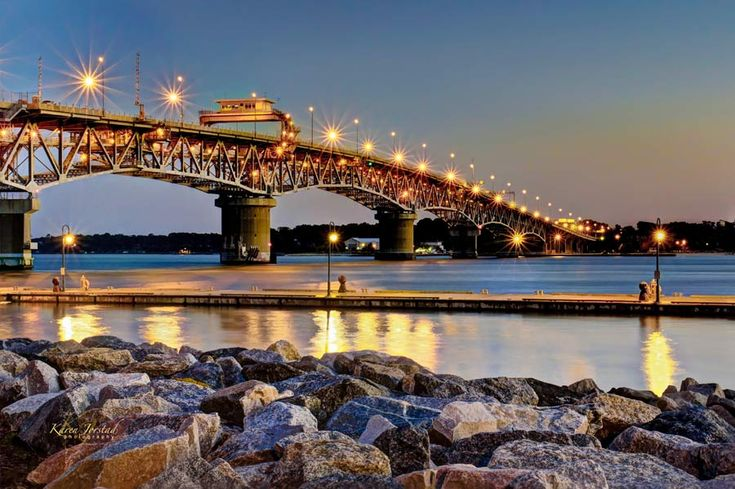 Coleman bridge at sunrise yorktown virginia karen