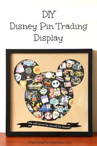 Create a unique display case for your collectible pins. #Silhouette ParentalPerspective.com