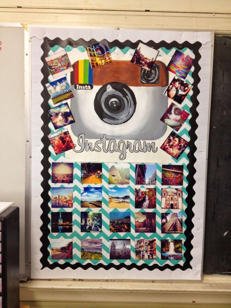 Spanish Classroom Decorations High School ~ Instagram photo bulletin board of spanish speaking