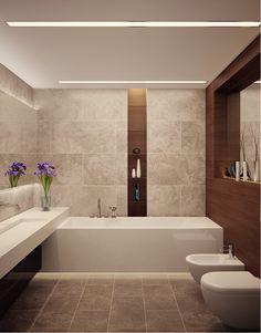 Bad moderne gestalten mit Licht