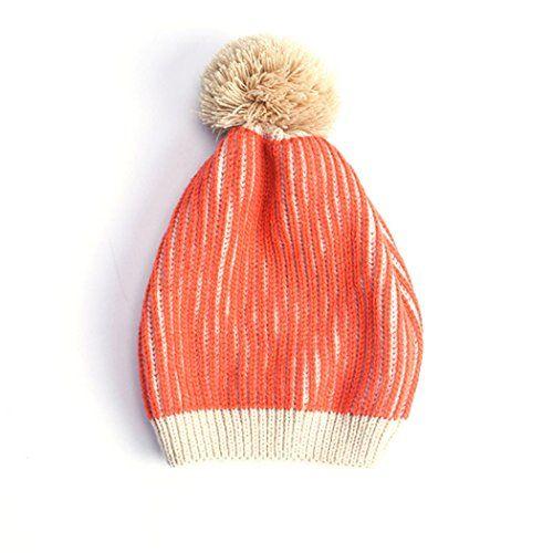 ce57f9b2e65 Girls Single and Double Pom Pom Winter Hats Caps Kids Beanies Single Pom  Double Pom Cosy Knitted ...