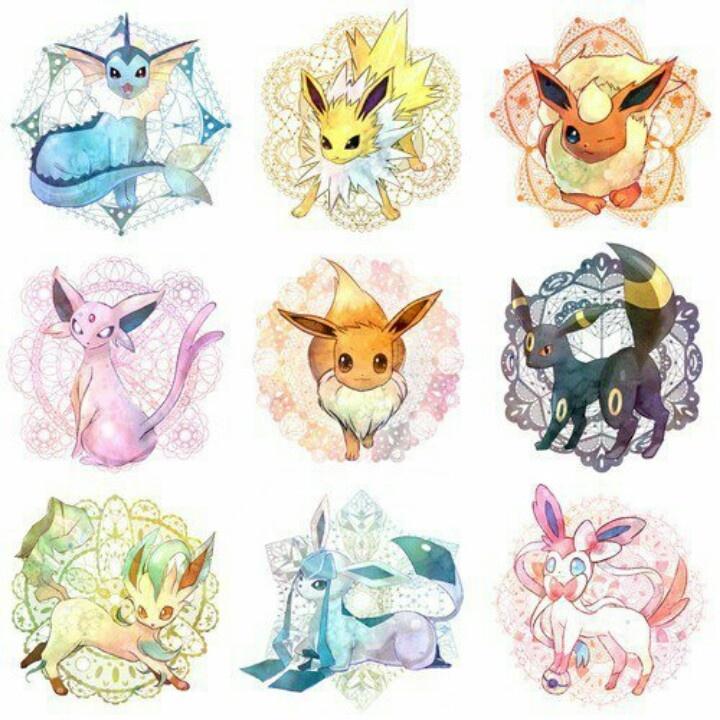 Pokemon Eeveelutions