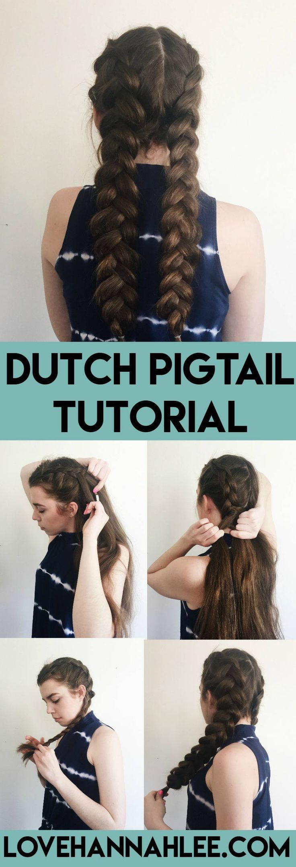 Dutch Pigtail / Boxer Braid Tutorial