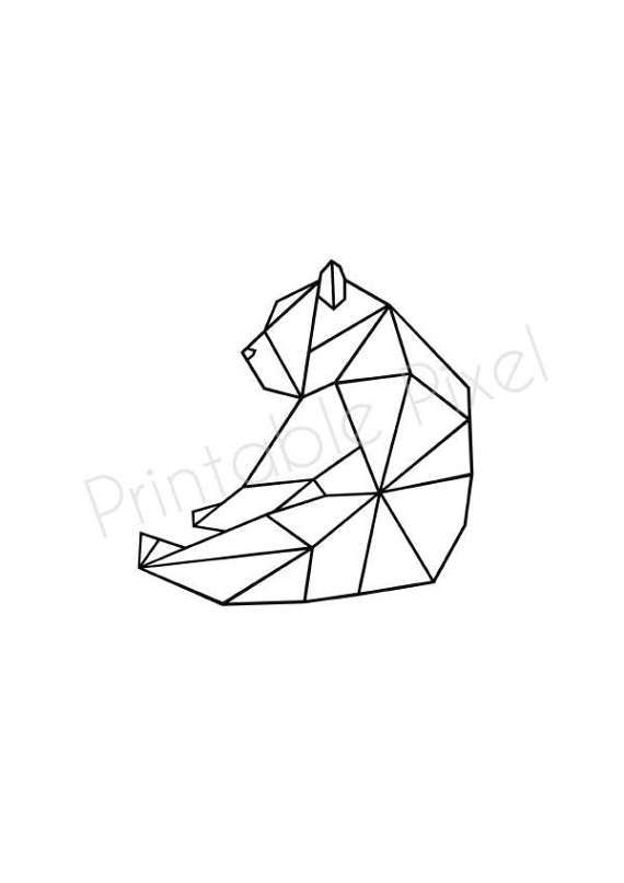 Geometric Animal | Geometric bear | Scandinavian design Poster | Nursery decor | Minimalist Art | Bear Print 70×100, 24×36″, 50×70, A4