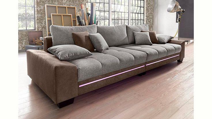 Jetzt Big-Sofa mit Beleuchtung, wahlweise mit Bluetooth-Soundsystem, Energieeffizienz: A günstig im yourhome Online Shop bestellen