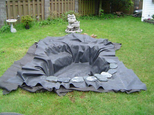 rangement  des pierres autour de votre bassin de jardin moderne