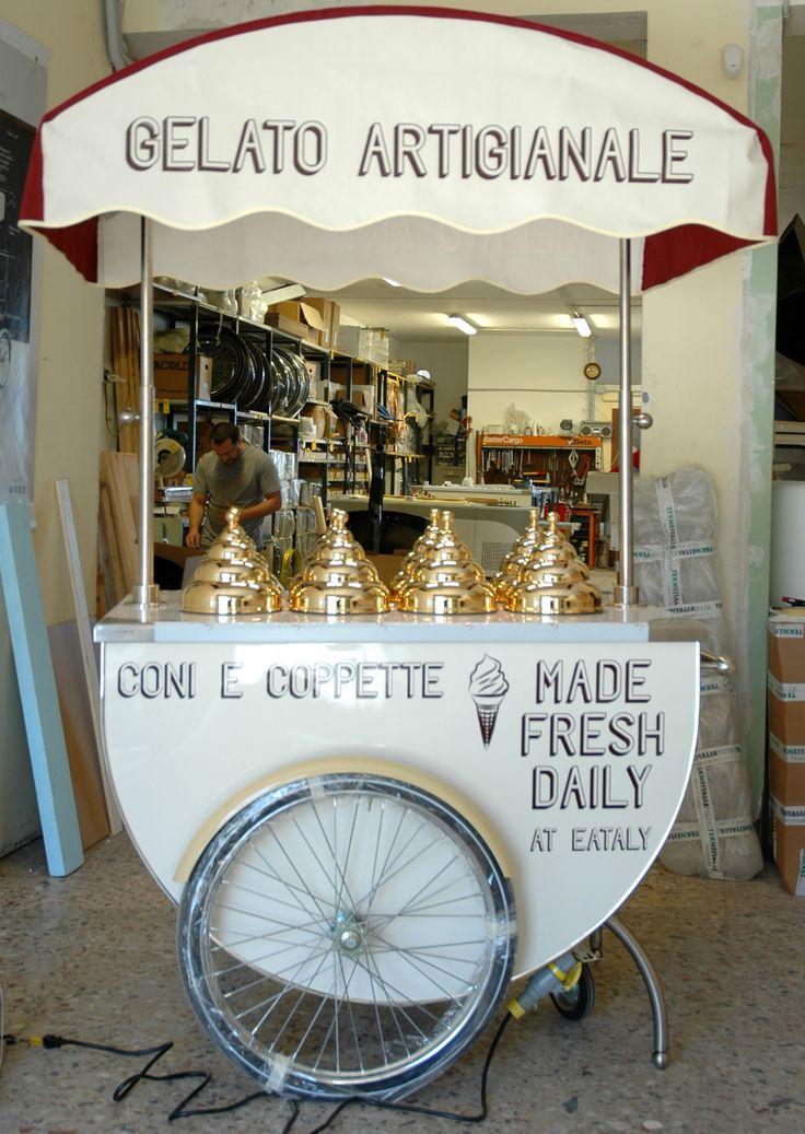 #tekneitalia #icecreamcart #gelato #gelatocart #italiangelato #eataly
