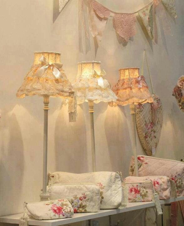 shabby chic lamps and bags
