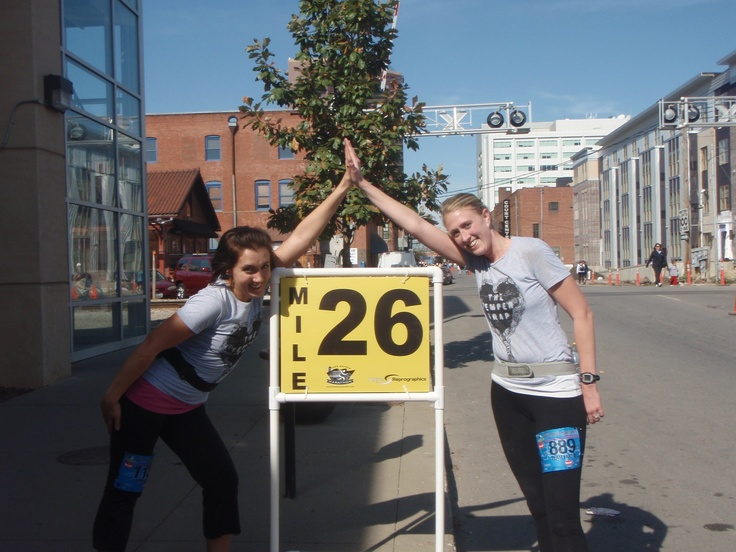 One of the best marathons (Des Moines, IA) with one of my best friends. <3