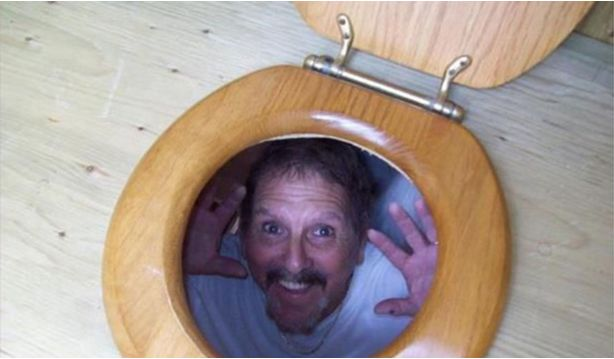Put a photocopy of your face under the toilet seat and close the lid.