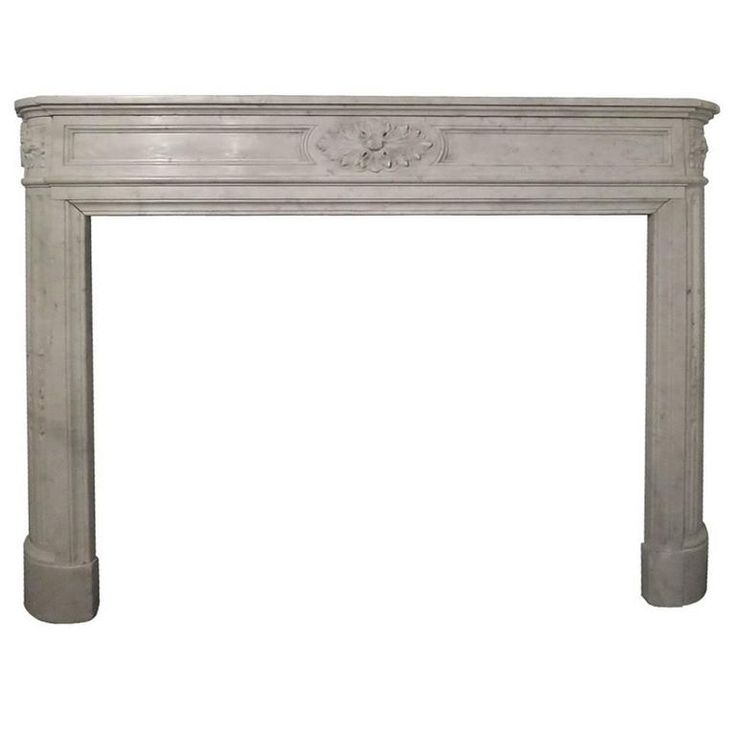 19th Century Louis XVI Style Carrara Marble Fireplace Mantel | From a unique collection of antique and modern fireplaces and mantels at https://www.1stdibs.com/furniture/building-garden/fireplaces-mantels/