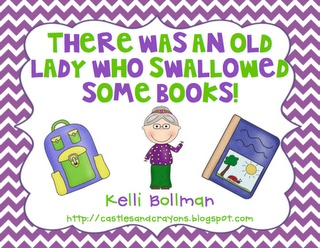 Castles and Crayons: There Was an Old Lady Who Swallowed Some Books!