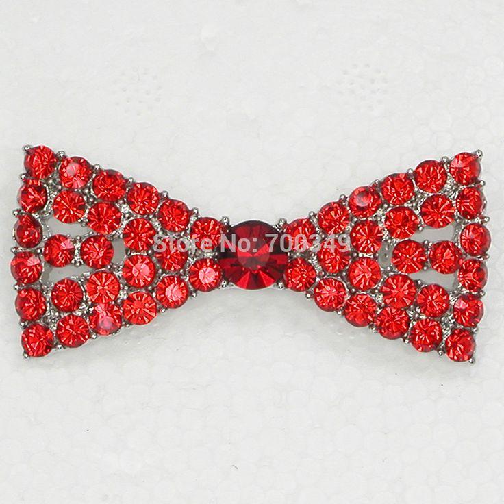 12 piece/lot красный кристалл стразы невесты свадьба галстук-бабочка цветы булавка брошь ну вечеринку пром брошь ювелирные изделия подарок C795 C