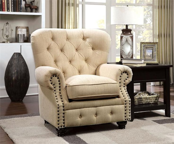 Chair   Stanford Ivory Sofa Collection CM6269IV