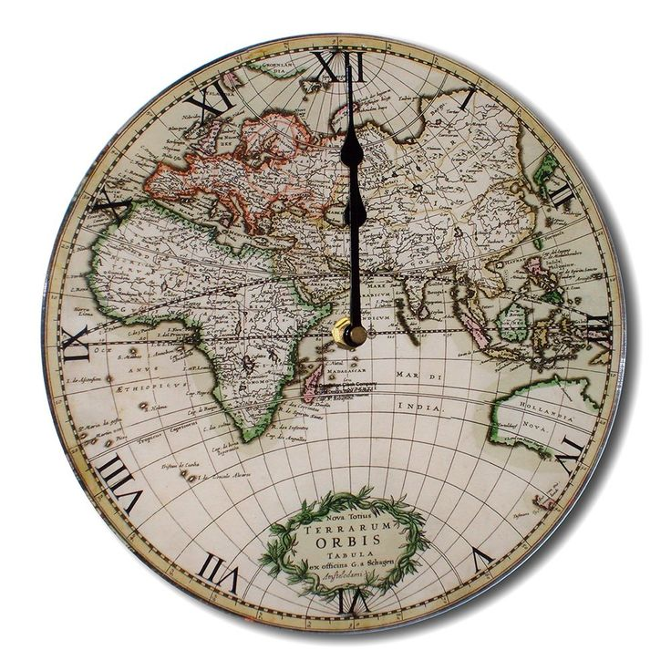 11 best ref clocks images on pinterest kitchen wall clocks classic antique retro chic style world map round acrylic glass kitchen wall clock gumiabroncs Gallery