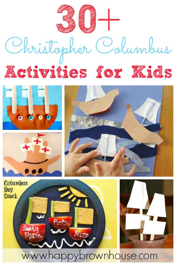 30  Christopher Columbus Activities for Kids~ Includes crafts, snack ideas, printables, and book ideas
