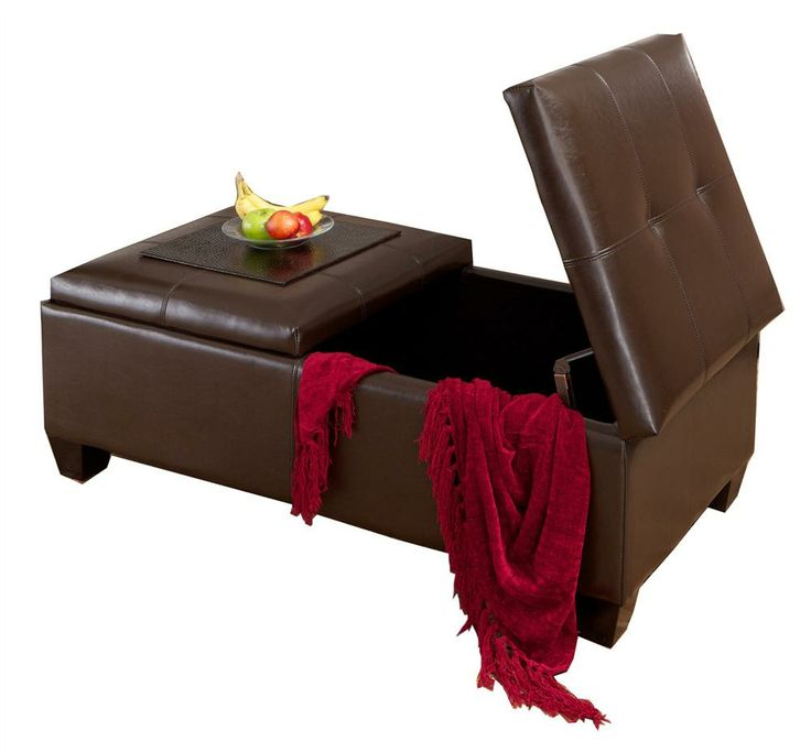 INACTIVATED-2nd-Batch-Bug157609_Fullerton Brown Leather Storage Ottoman - 44 Best Images About Storage Ottoman/Bench On Pinterest Round