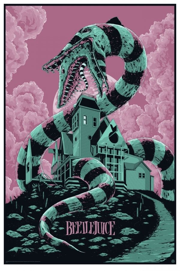 A sandworm chows down in Mondo's slithery new Beetlejuice poster   Blastr