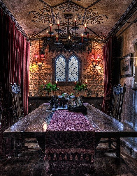 The Victorian Welsh dining room, Talliston House, Great Dunmow, Essex