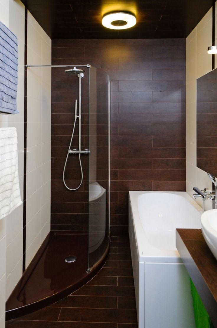 Interior, Picturesque Minimalist Home Interior Design In Australia: Transparent Glazed Shower Area Door In Brown And White Bathroom