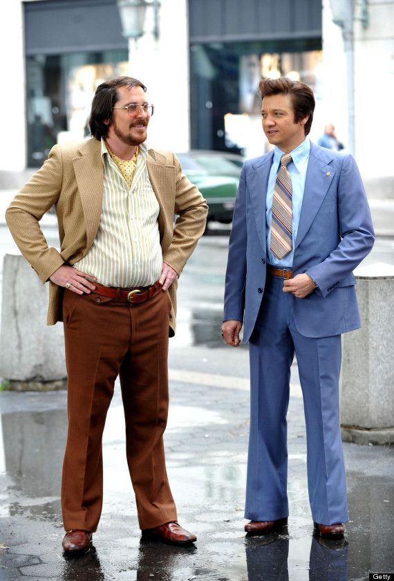 Christian Bale (ahem) and Jeremy Renner  American hustle so Great