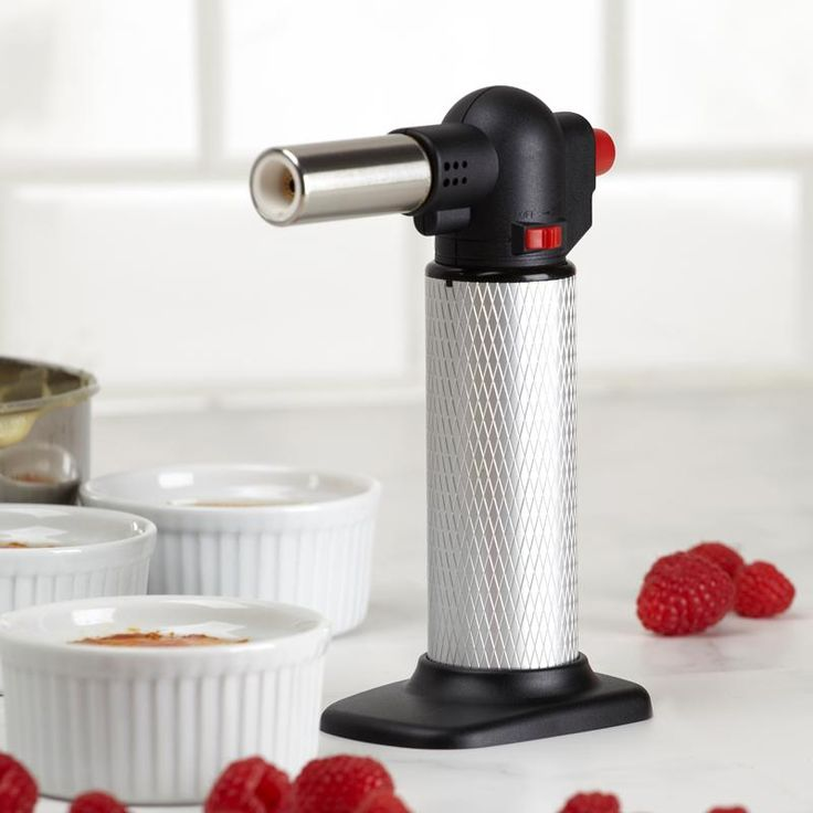 Make delicious creme brulee for friends and family. The Blaze Creme Brulee Torch is easy to use and is a convenient culinary torch that will toast the top of your dessert in only a few seconds.