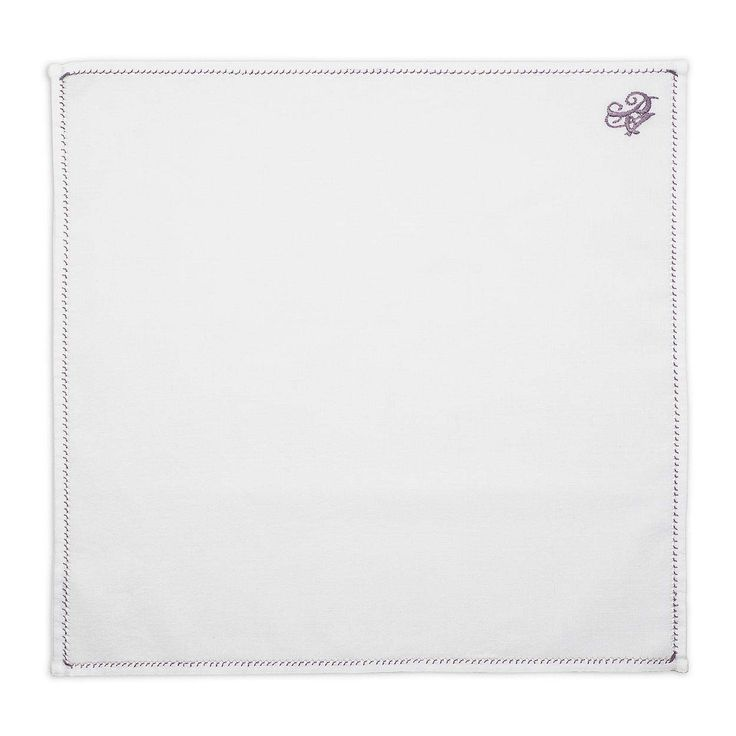 Personalized Purple Thread Pocket Square