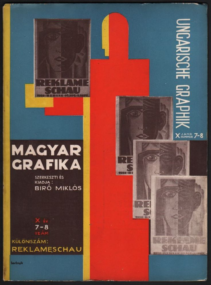 Budapest: Magyar Grafika, (1929). With numerous illustrations. First edition. Text in Hungarian and German. In original, illustrated wrappers. Cover designed by Sándor Bortnyik.