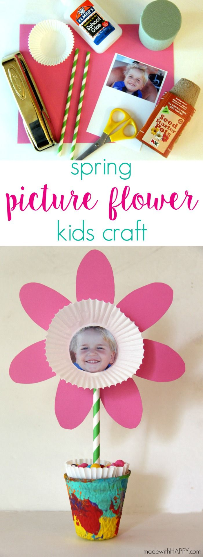 Spring Picture Flower Kids Craft | Mother's Day Craft | Paper Flowers…