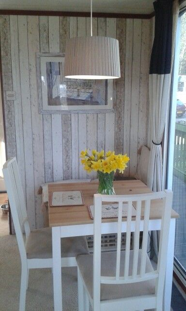 Dining Room Makeover In Our Static Caravan Glamping Camping Amp Holiday Living Pinterest