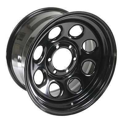 "Cragar Soft 8 Black Steel Wheels 17""x9"" 6x5.5"" BC Set of 4"