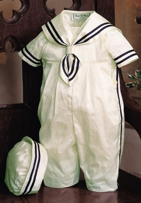 A2784 Duke Sailor Suit by Little Darlings - £100.00 : Christening UK, Perfect Christening gowns, dresses, rompers, suits and accessories for girls and boys from Angels & Fishes, Little Darlings, Sarah Louise and more..