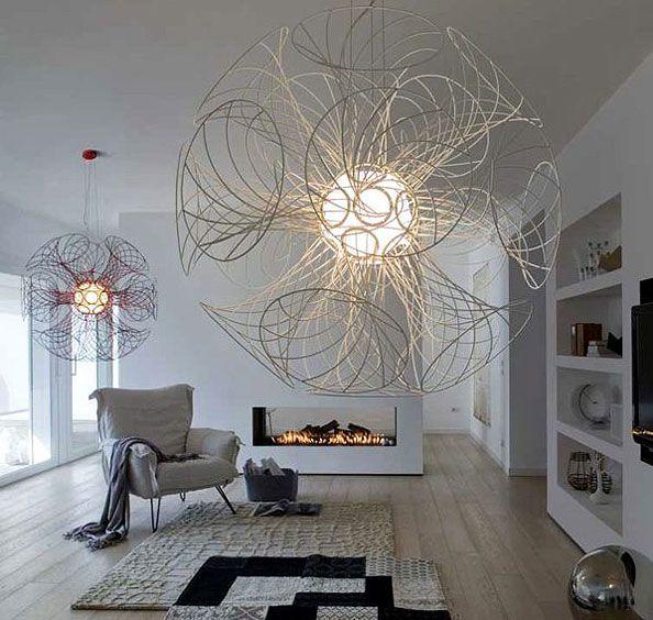 Brian RasmussenPendants Lamps, Lamps Design, Architects, Lights Fixtures, Interiors Design, Modern Living Room, Fireplaces Wall, Modern Lights, Beautiful Room