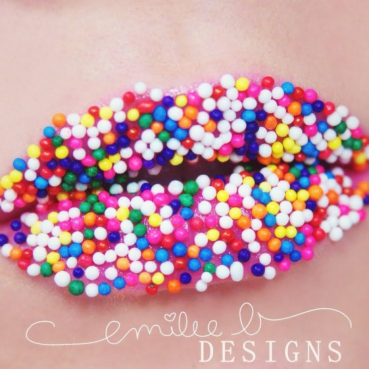This sweet lip treat is made special by the candy sprinkles attached to the pink lipstick. See product details to DIY.