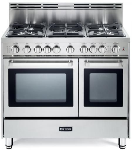 Stainless Steel 36 Verona Gas Double Oven Range N Series