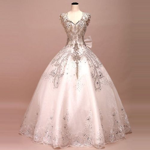 Vintage Ball Gown,Beaded Prom Dress,Bodice Prom Dress,Fashion Prom
