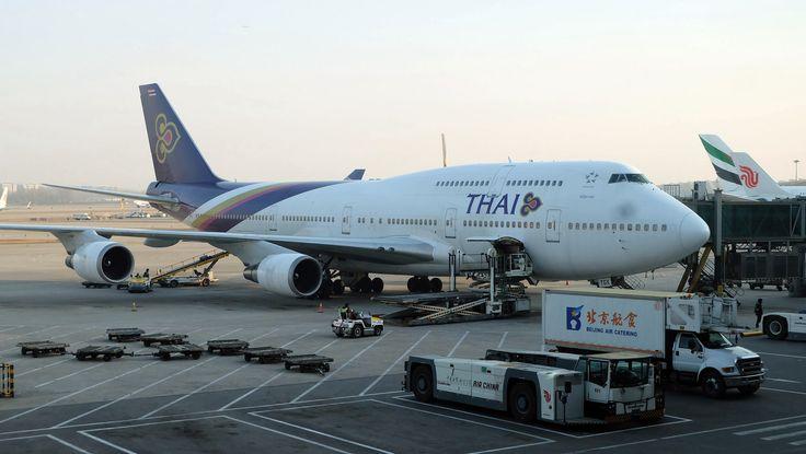 https://flic.kr/p/Eee7pU | Boeing 747-400 (HS-TGX) at PEK Capital Airport - Thai | TG615 PEK-BKK