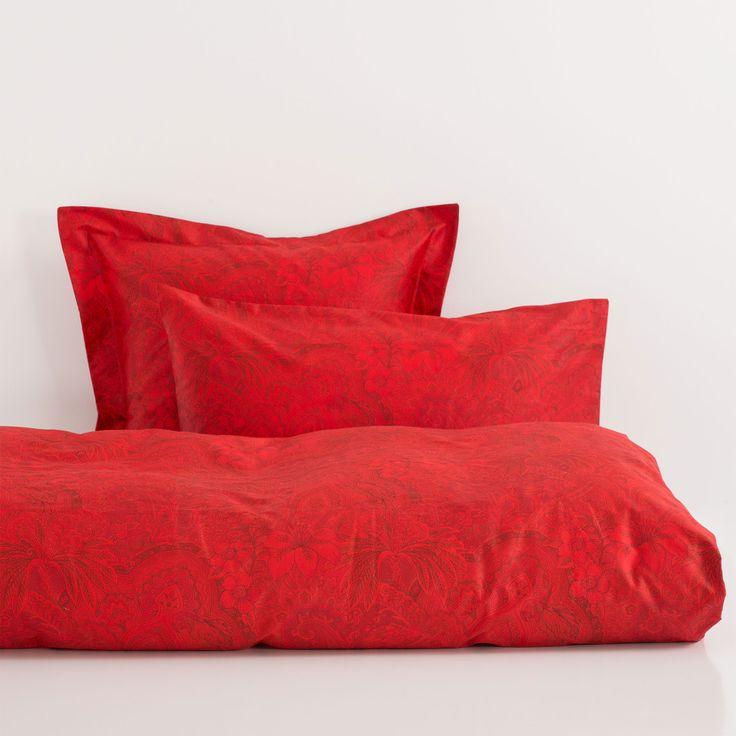 Белье постельное из хлопка с принтом красного цвета - Постельное белье - Cпальная комната | Zara Home Россия / Russia