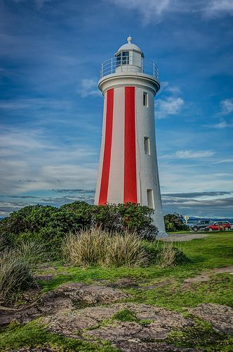 The distinctive Mersey Bluff Lighthouse in Devonport. Image Credit: Russell Charters
