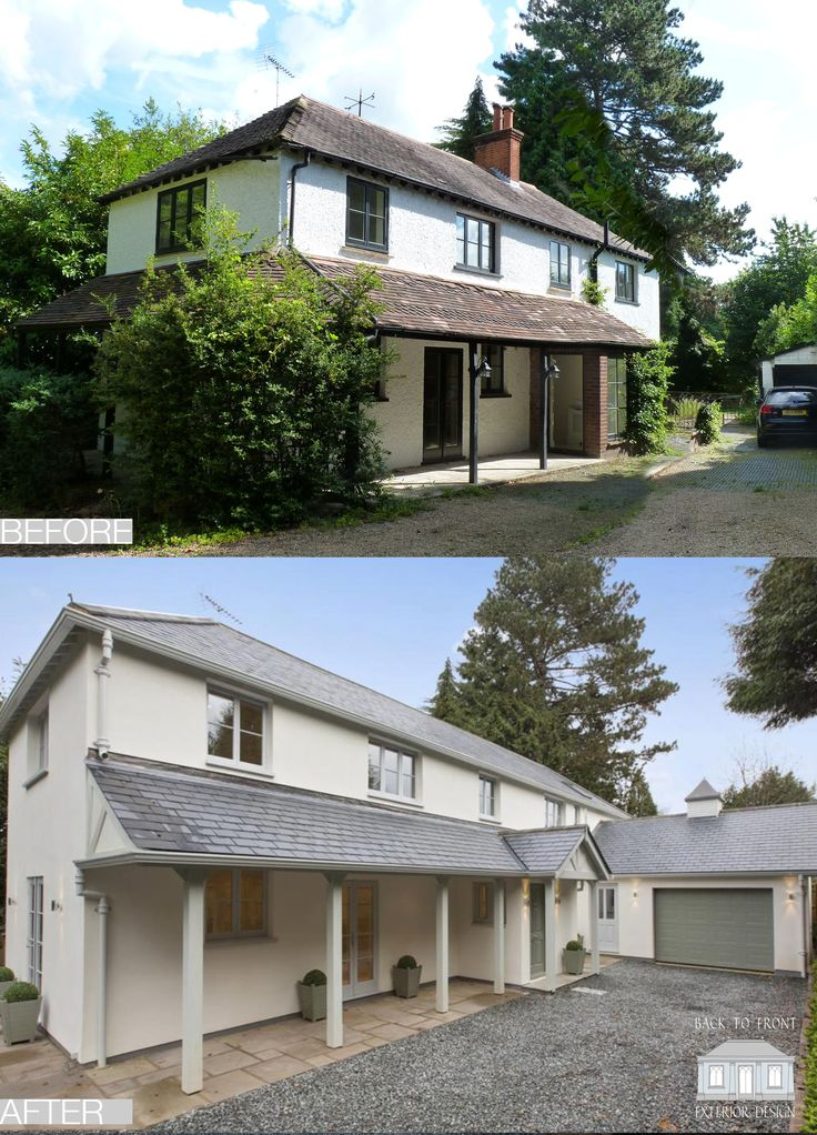Exterior House Design: 50+ Best Back To Front Before & After Remodelling Projects