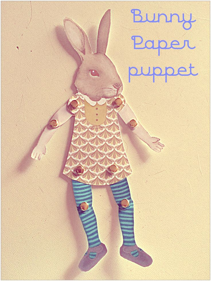 #puppet #bunny #paper