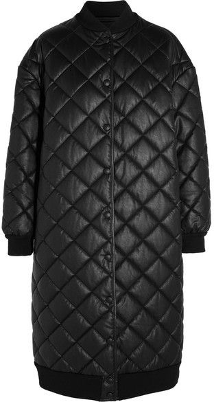 Stella McCartney - Marisa Quilted Faux Leather Coat - Black