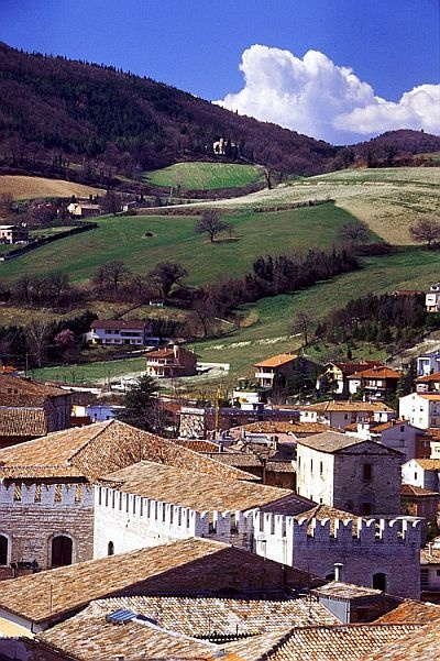 The town center on the hills backdrop - Fabriano - Marche - Italy   photo by S. Ambrosini