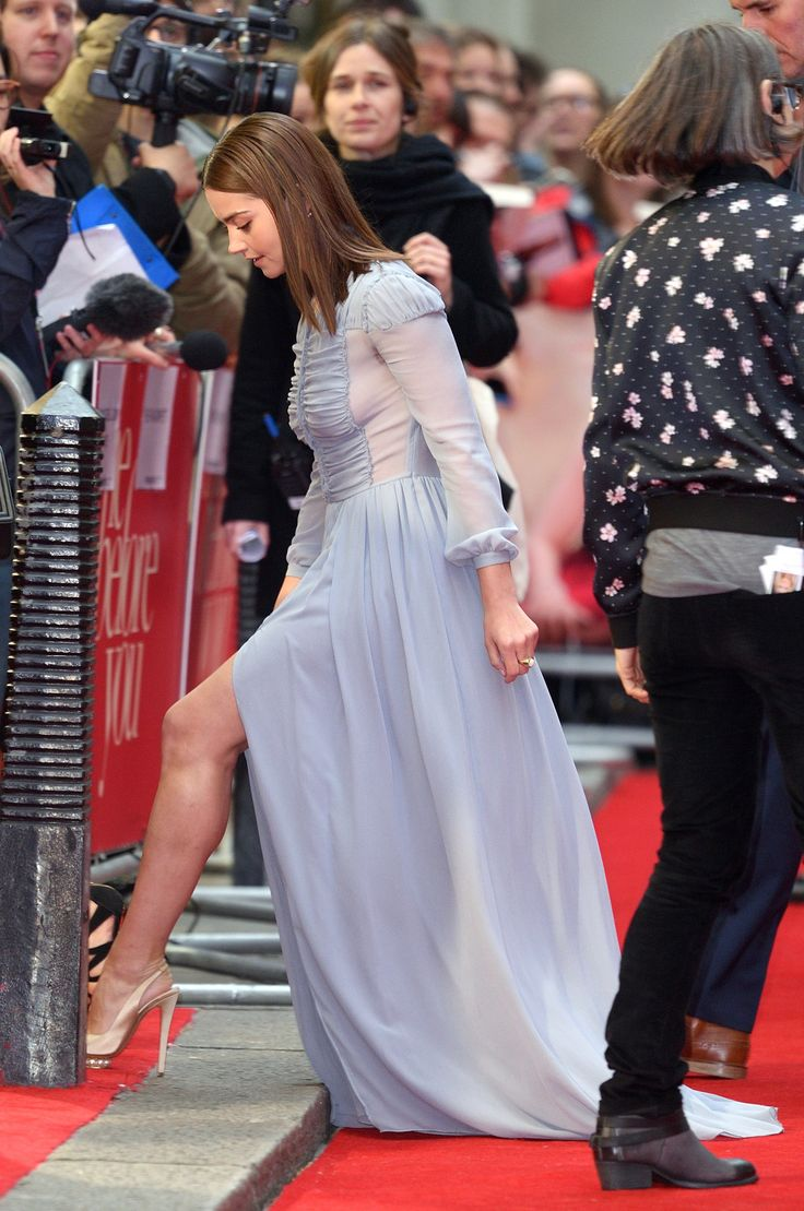 """dailyactress: """"Jenna Coleman at the Me Before You European Premiere Curzon Mayfair London May 25th 2016 """" JennaColeman and a red carpet peek of her shapely gam in platform pumps"""