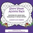 Great activity for RtI time, whole or small groups or literacy centers!   6 Different Short Vowel Activities  Short Vowel Foldable:  short vowel ca...