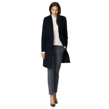 Gant Women's Autumn Paletot Wool Coat Navy
